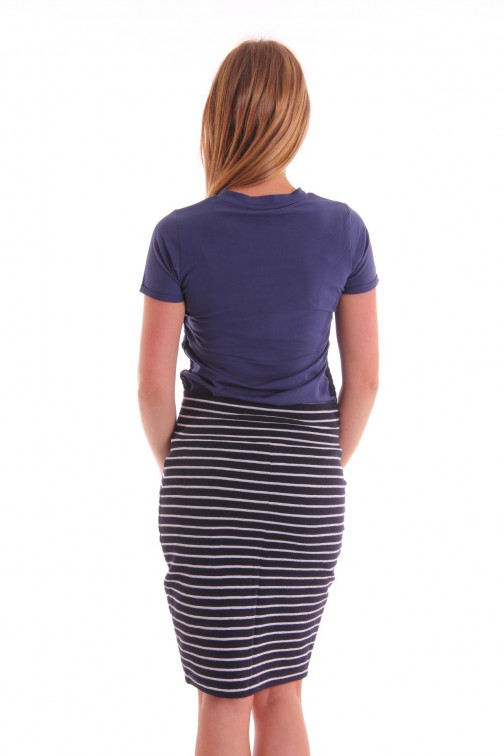 Milla t-shirt Cara in navy Tout es Possible