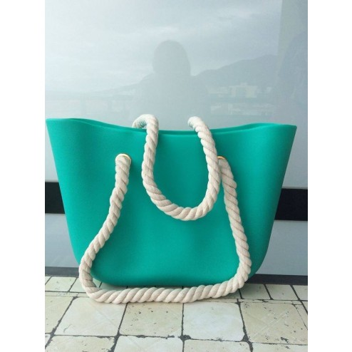 beachbag in emerald