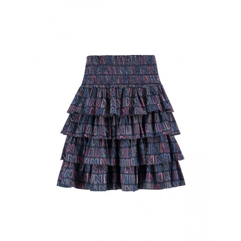 Nikkie N3-138 1904 ruched logo skirt