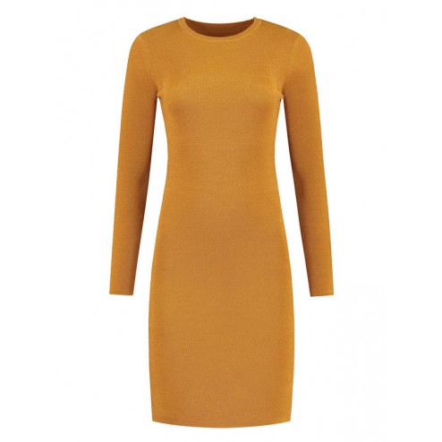 Nikkie Jolie lurex dress in Amber Nikkie N7-291 1904 Jolie lurex Amber