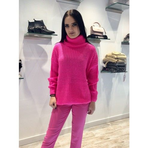 Roze oversized coltrui