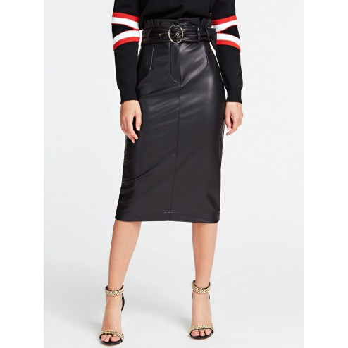 Guess W01D65WBG60 Helene leather skirt