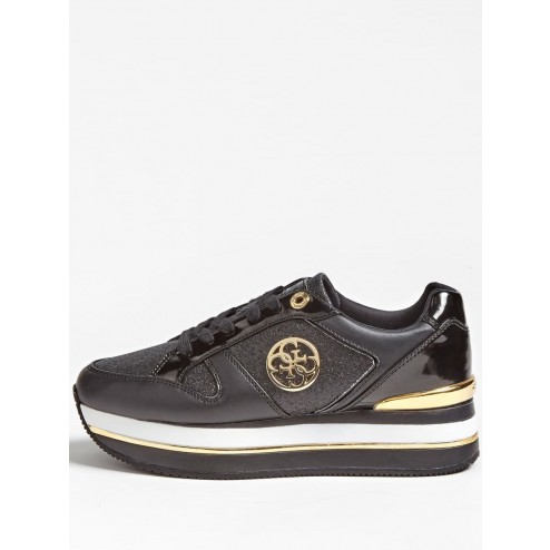 Gues FL5DLYFAM12 Dealy sneaker black-gold
