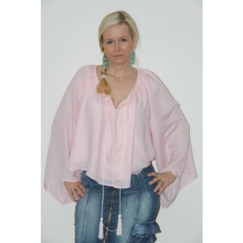 Jacky Luxury tuniek, in roze met flosjes.