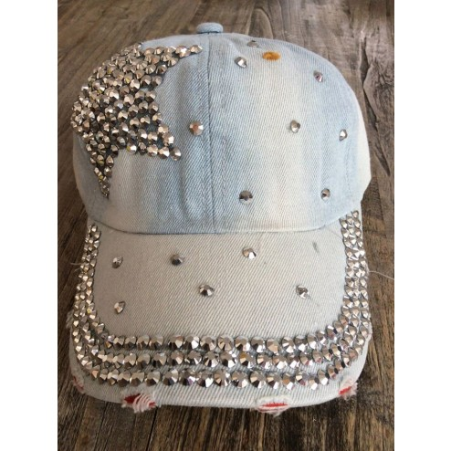 cap met strass star