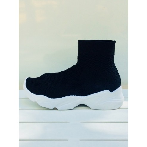 Sock sneakers in zwart
