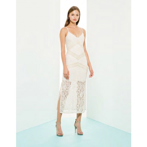 Fracomina FR19SM678 cream lace dress