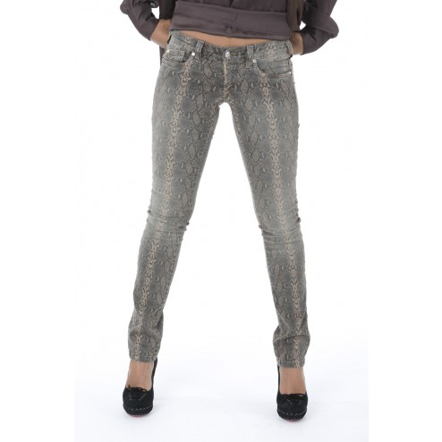 Snakeprint jeans van Sylvia's secret by S.O.S.