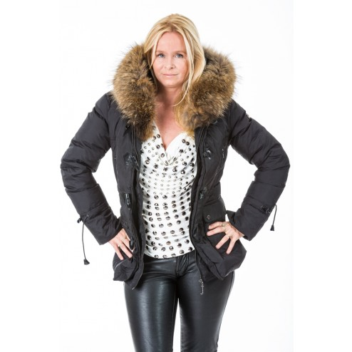 Jacky Luxury winterjas in zwart.