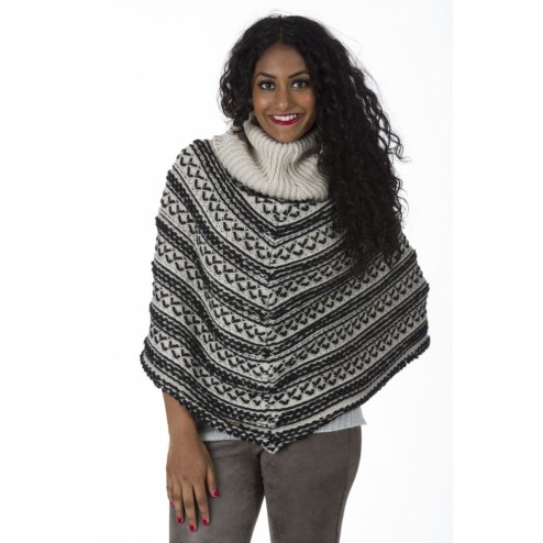 Miss Money Money poncho in taupe