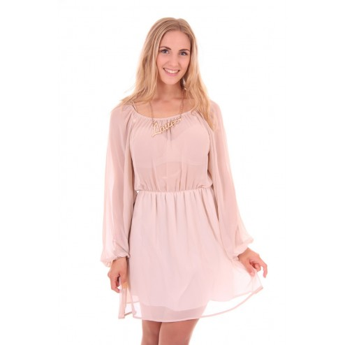 Relish Petals dress in nude: LOVE
