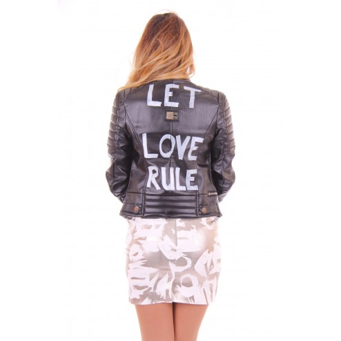 Josh V Jill bikerjasje in zwart LET LOVE RULE