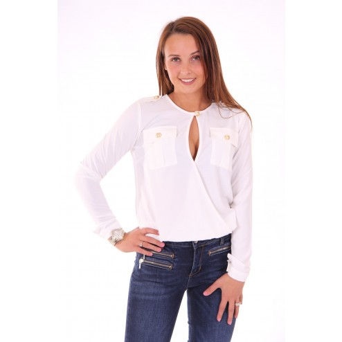 Bodyblouse van Relish in wit, Elsemik