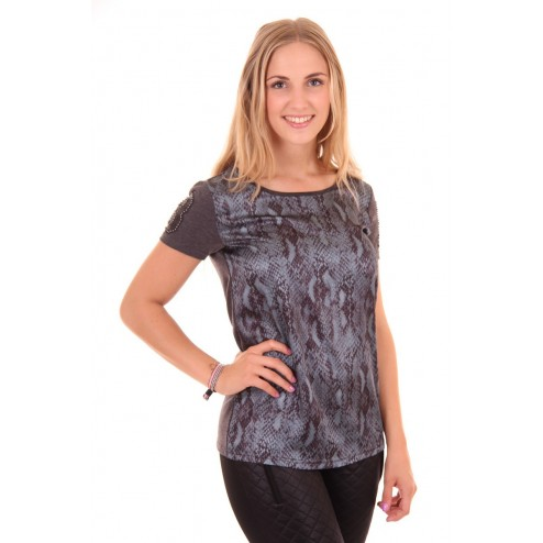 Fracomina shirt in printed front in snake
