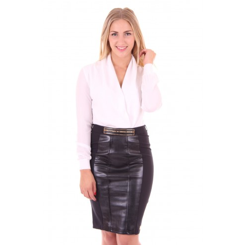 overslag blouse van Jacky Luxury