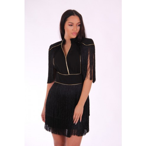 Fringe dress van Relish