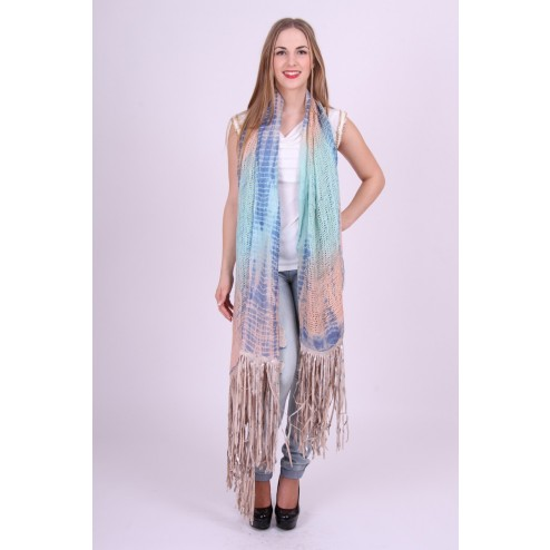 B.loved ruffel scarf sjaal in blue