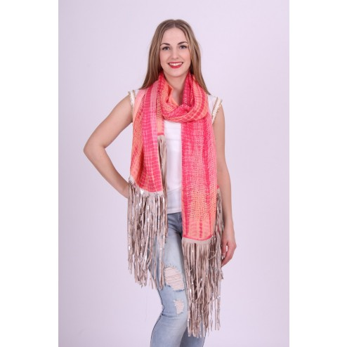 B.loved ruffel scarf sjaal in coral