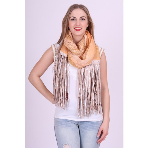 B.loved ruffel scarf sjaal in nude tinten