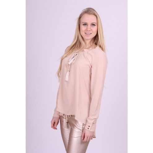 Josh V blouse Mirthe in nude.