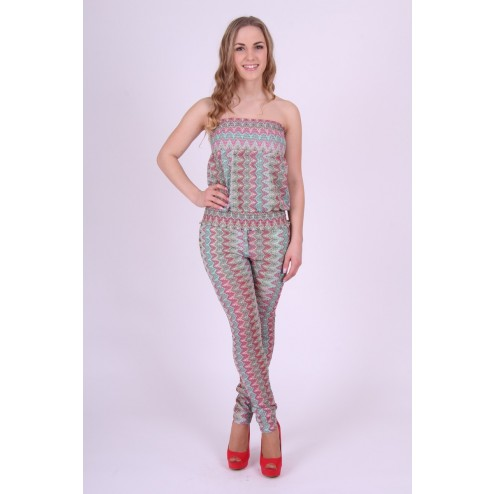 Jacky Luxury jumpsuit in strapless model; Missoni