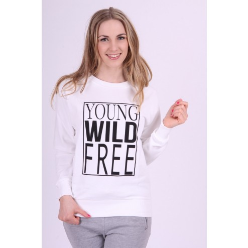 Nikkie sweater in wit Young Wild & Free.