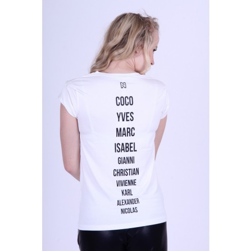FASHION ICONS shirt van Nikkie by Nikkie Plessen in wit