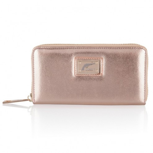 Josh V Waylon wallet in rosé gold