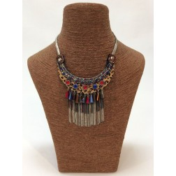 Statement ketting in animal print multicololr