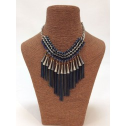 Schakelketting met klosjes in navy