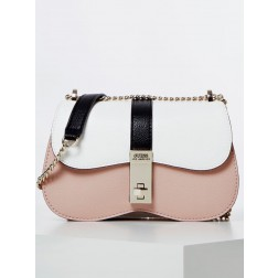 Guess Asher schoudertas in rose-wit