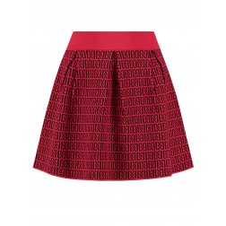 Nikkie perfect logo skirt red - black