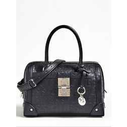 Guess Lucienne bag in zwart logo leer