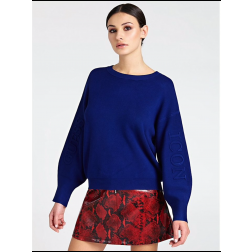 Guess Diana sweater In kobalt GUESS ICON