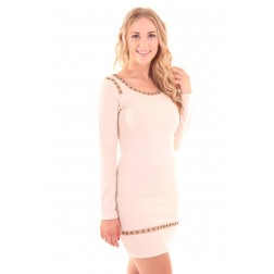 Glamorous Minidress GABE in cream