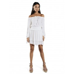 Jacky Luxury JLSS20099 top off-shoulder white