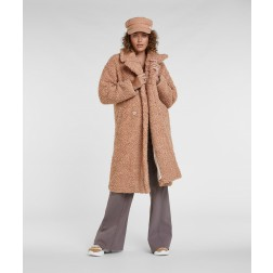 Josh V JV-2009-0901 Madelynn long teddy coat in almond