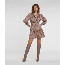 Josh V V-2009-0401 Renske dress in iron brown