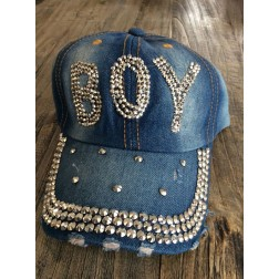 Denim baseball cap. BOY, faded denim