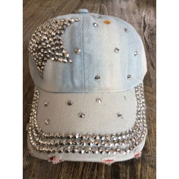 Denim baseball cap. STAR, faded denim