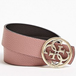Guess reversible riem in zwart - pink