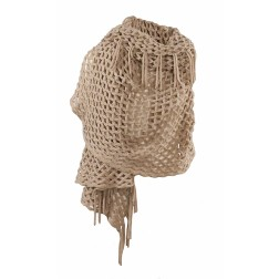 Jacky Luxury poncho/sjaal in taupe