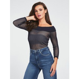 Guess Greta offshoulder trui in navy