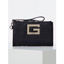 Guess Brightside wallet - clutch in zwart