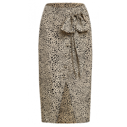 Its Given Ellah rok met knopen in leopard
