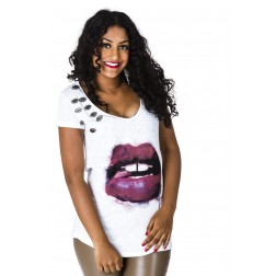 Relish shirtje in wit met lips.