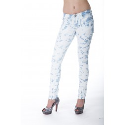 Jacky Luxury jeans in blauw/wit – ibiza collection.