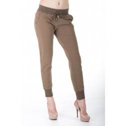 Jacky Luxury joggingbroek in taupe.