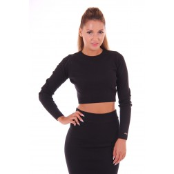 Cropped top van Jacky Luxury in zwart