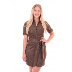 Glamorous Marie dress in army suéde
